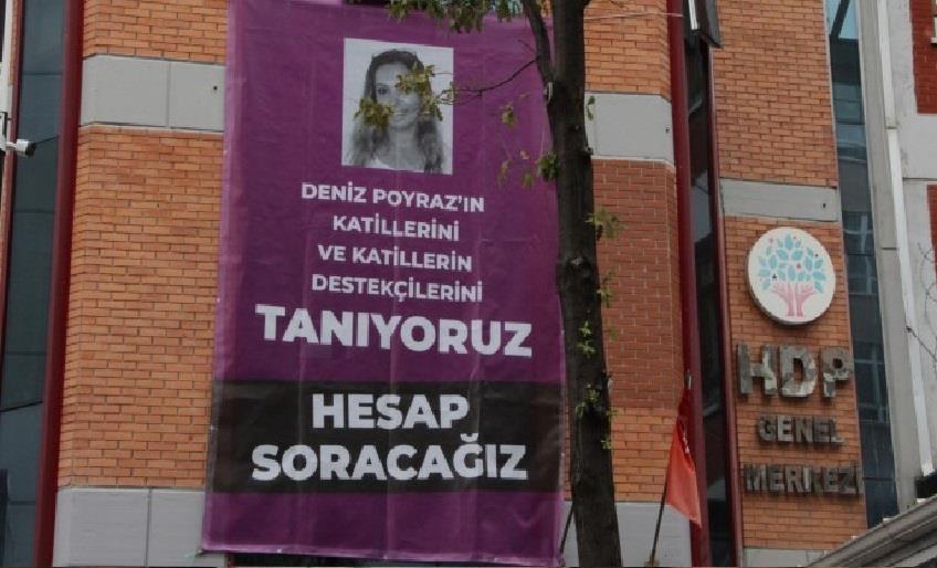 HDP önünde provokasyona tepki: Deniz Poyraz'ın katilini getiremezsiniz