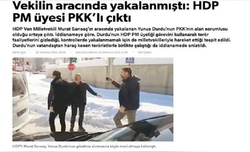 HDP PM ÜYESİ DURDUR YENİ ŞAFAK GAZETESİ HAKKINDA SUÇ DUYURUSUNDA BULUNDU