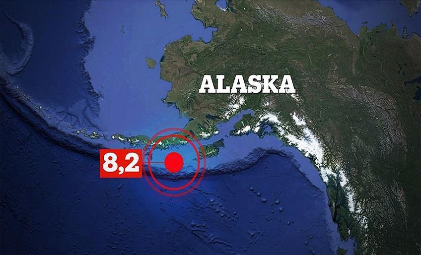 ABD'NİN ALASKA EYALETİNDE 8.2 BÜYÜKLÜĞÜNDE DEPREM MEYDANA GELDİ