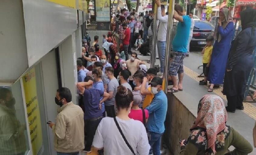 OFİS PTT ŞUBESİ KALABALIK NEDENİ İLE KAPATILDI